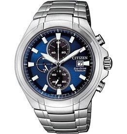 Citizen CA0700-86L Horloge Heren Ecodrive Super Titanium Chrono Blauw