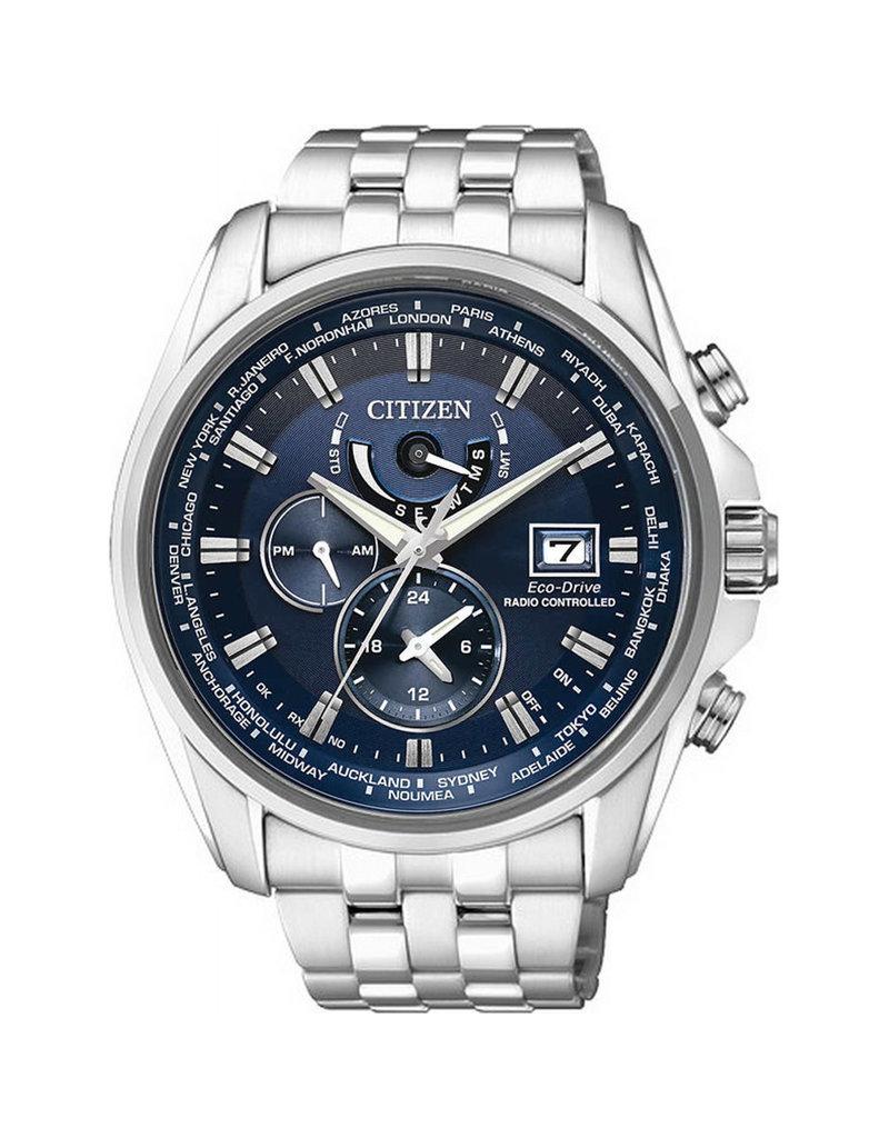 Citizen AT9030-55L Horloge Heren Ecodrive Radio Controlled Staal Blauw