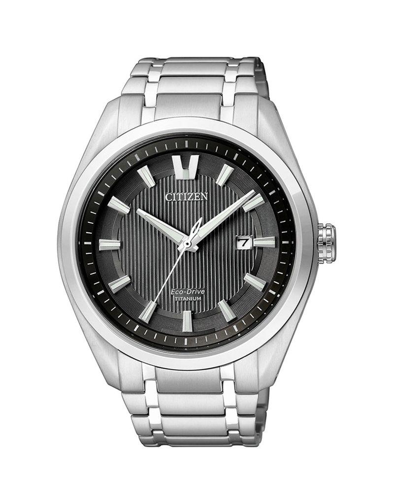 Citizen AW1240-57E Horloge Heren Ecodrive Super Titanium Zwart