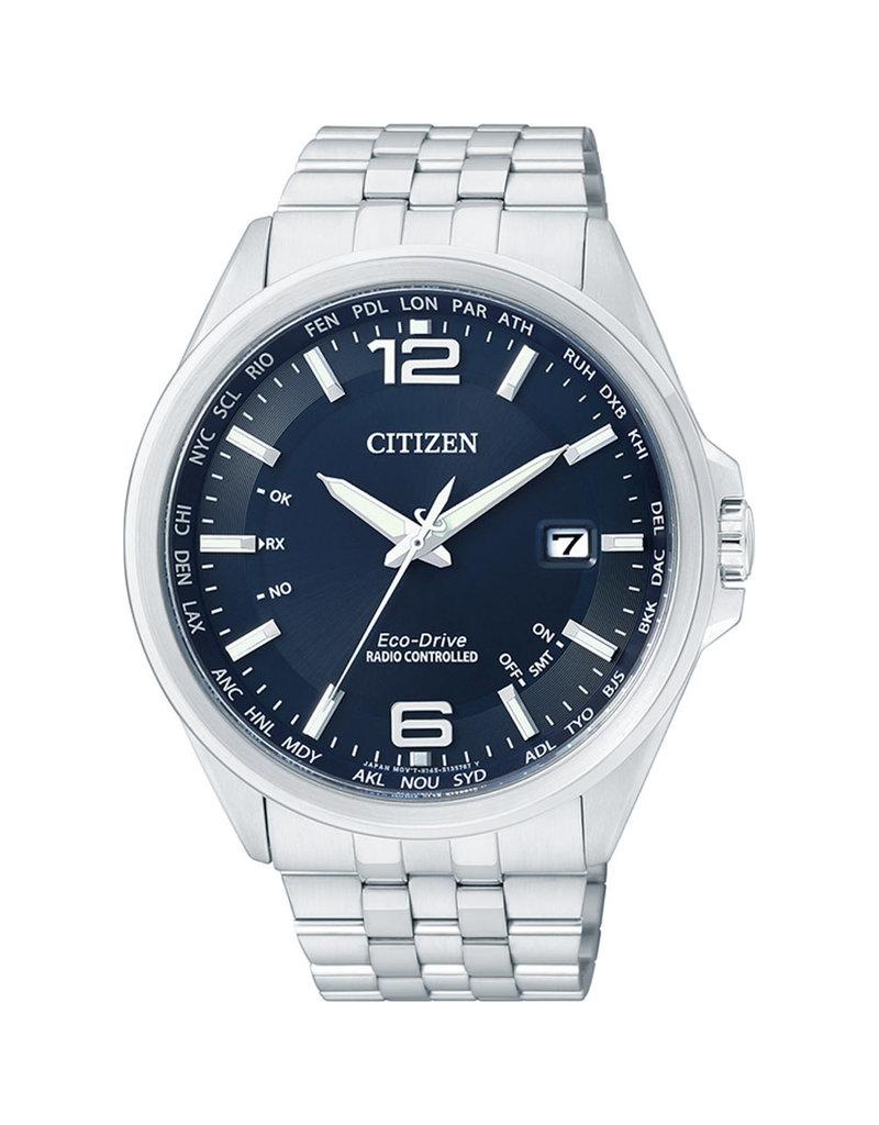 Citizen CB0010-88L Horloge Heren Ecodrive Radio Controlled Staal Blauw