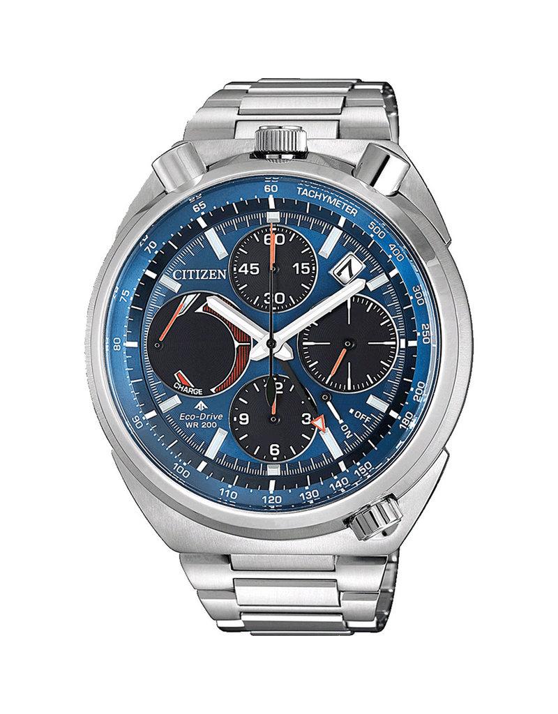 Citizen AV0070-57L Horloge Heren Eco Drive Chrono Blauw