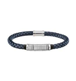 Tommy Hilfiger Tommy Hilfiger TJ2790155 Armbad Leer Metal Spiral Blauw