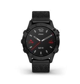 Garmin Exclusive Garmin 010-02158-17 Smartwatch Fenix 6,Sapphire, Nylon Strap, GPS