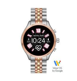 Michael Kors Michael Kors MKT5080 Smartwatch Lexington Gen5 Staal goud/ Rosé verguld