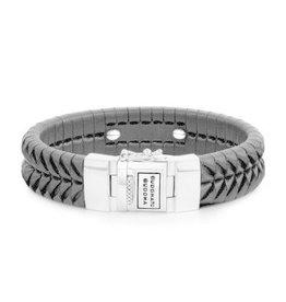 Buddha to Buddha BtoB 161BL E Armband Komang Leather Black - Maat E