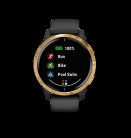Garmin Garmin 010-02173-32 Venu Smartwatch Black/Gold Gps, Wifi