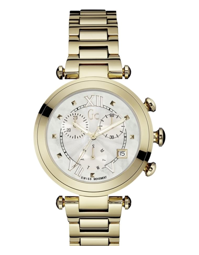 GC GC Y05008M1MF Dames Horloge Sport Chic Staal Goudkleur