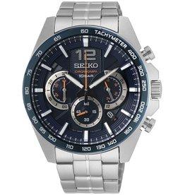 Seiko Seiko SSB345P1 Horloge Heren Chrono Staal Blauw