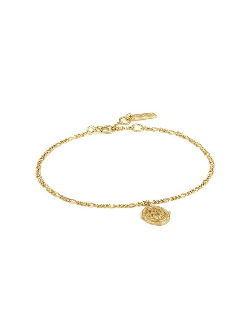 ANIA HAIE JEWELRY AH B020-02G Armband Axum Zilver Goudkleurig