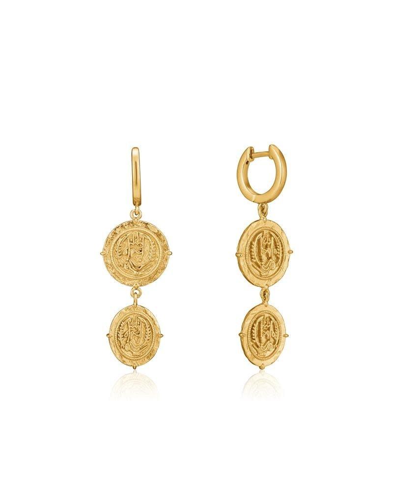ANIA HAIE JEWELRY AH E020-02G Oorbellen Axum mini Hoop Zilver goudkleurig