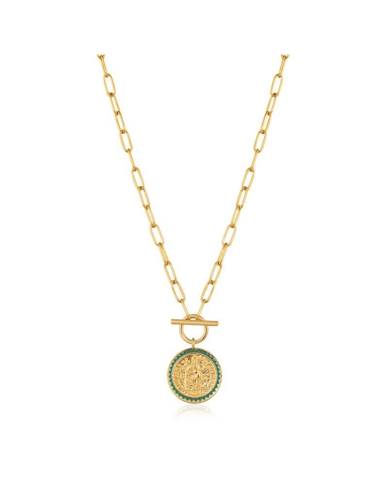 ANIA HAIE JEWELRY Ania Haie AH N020-05G Ketting  Emperor T-Bar Zilver goudkleurig