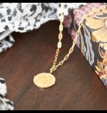 ANIA HAIE JEWELRY AH N020-02G Ketting Axum Zilver goudkleurig