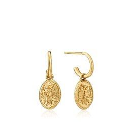 ANIA HAIE JEWELRY AH E020-03G Oorbellen Nika mini Hoop Zilver goudkleurig