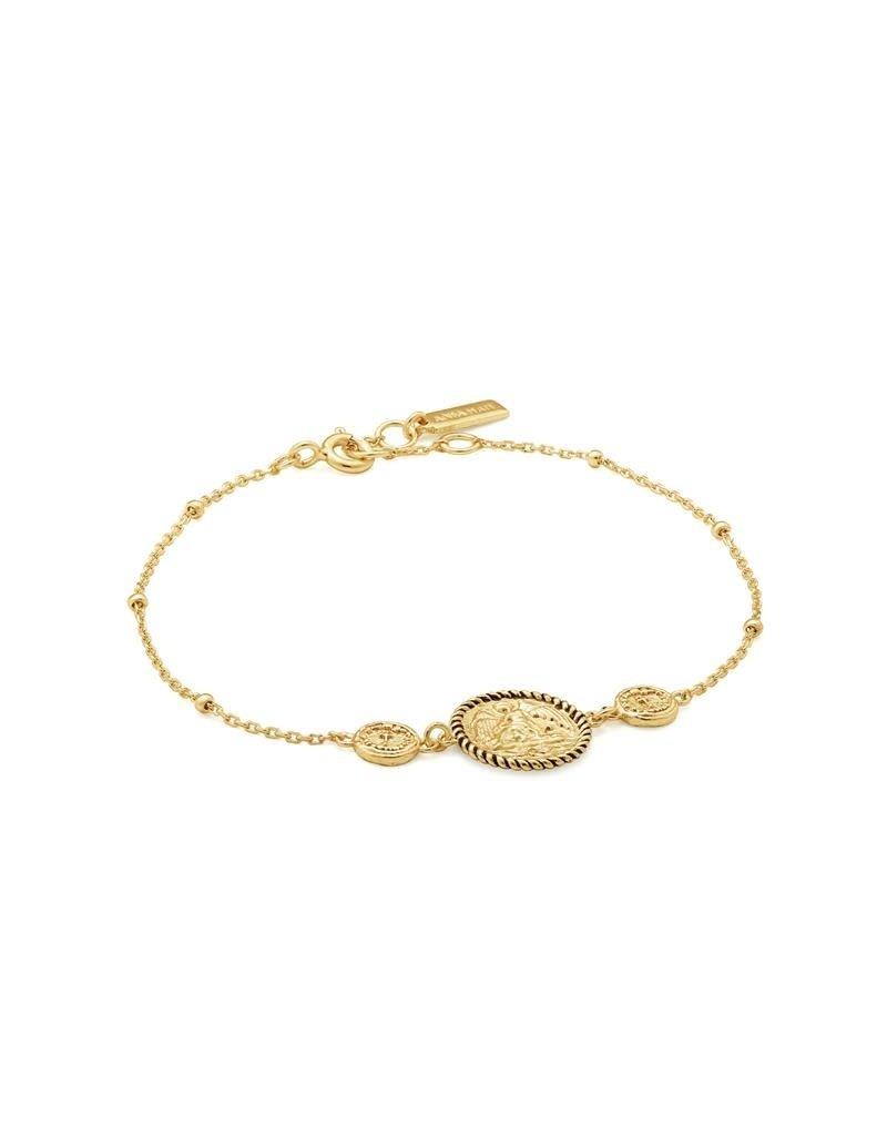 ANIA HAIE JEWELRY AH B020-01G Armband Winged Goddess Zilver goudkleurig