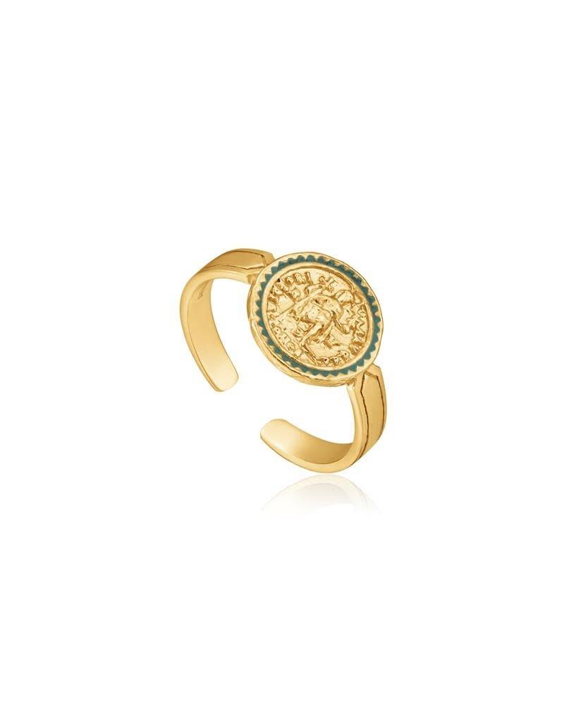 ANIA HAIE JEWELRY AH R020-04G Ring Emperor Adjustable Zilver goudkleurig