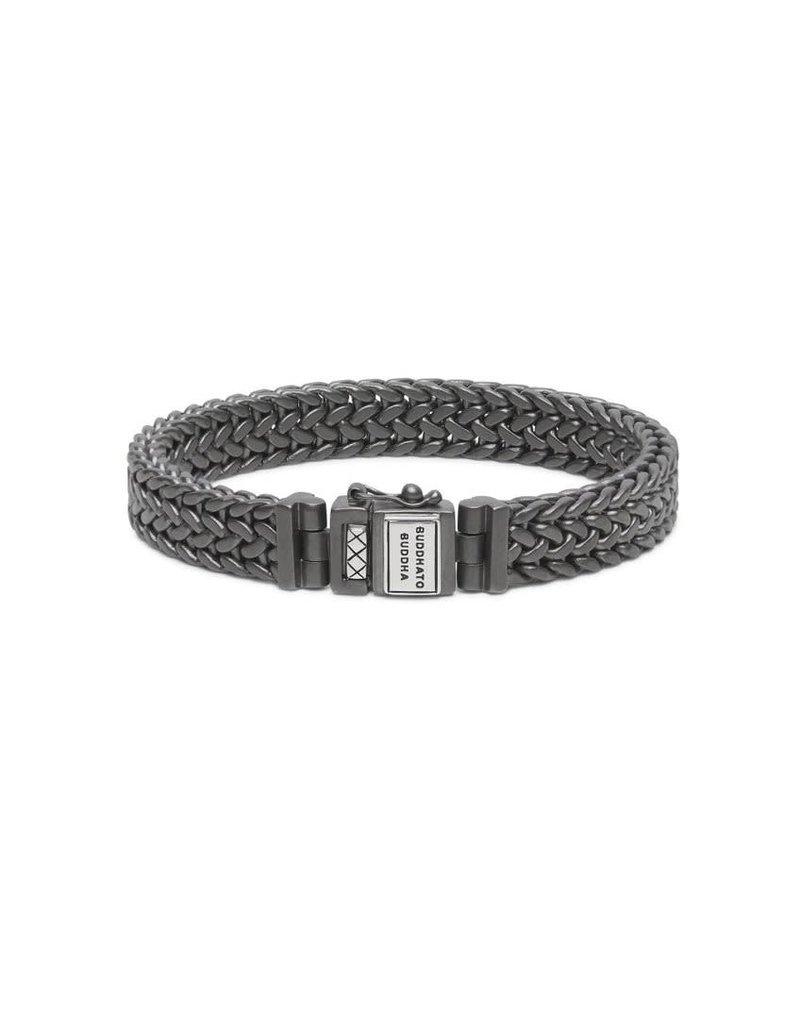 Buddha to Buddha BtoB 192BRS F Armband Julius Black Rhodium Silver Silver Maat F
