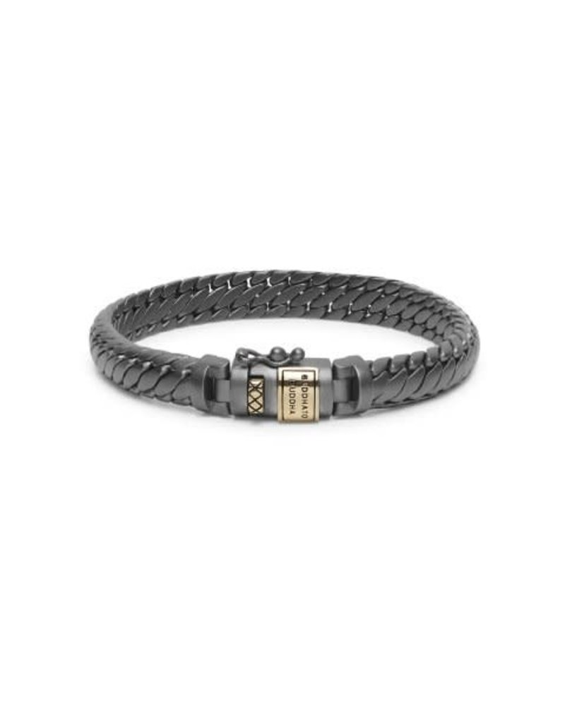 Buddha to Buddha BtoB J070BRG E Armband Ben XS Black Rhodium Gold Maat E