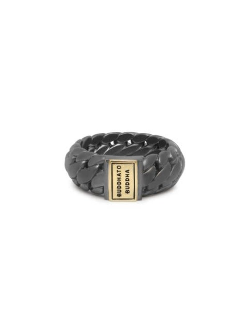 Buddha to Buddha 542BRG 19 Ring Black Rhodium Gold Maat 19