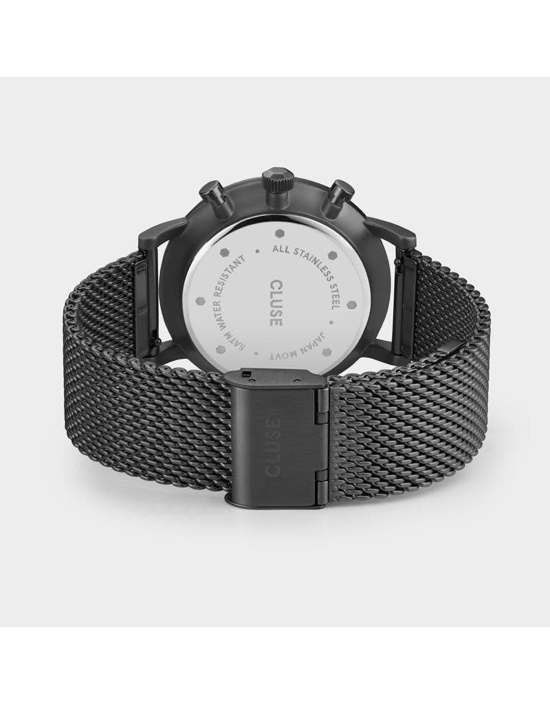 Cluse CW0101502007 40 mm heren horloge zwart plated kast en