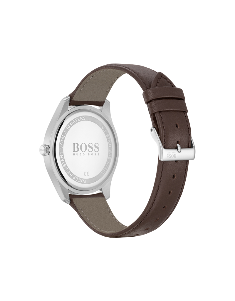Hugo Boss Hugo Boss HB1513728 Horloge Circuit leer bruin
