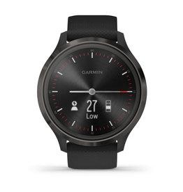 Garmin 010-02239-01 Vivomove3 Smartwatch Black Silicone
