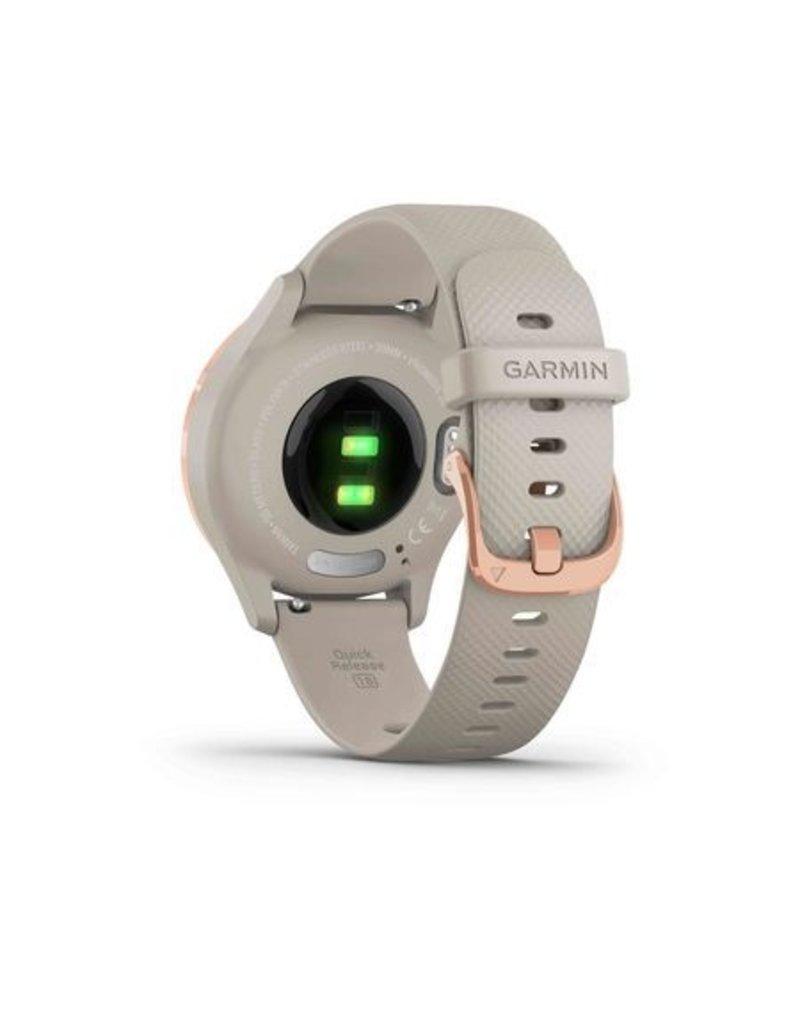 Garmin Garmin 010-02238-02 Vivomove 3S Smartwatch Rose gold Light Sand Silicone