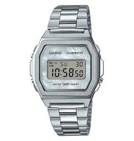 Casio Casio A1000D-7EF Horloge Digitaal Vintage Staal MOP