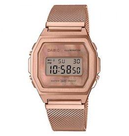 Casio Casio A1000MPG-9EF Horloge Digitaal Vintage Staal Rosé Mesh MOP