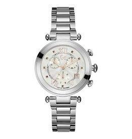 GC GC Y05010M1MF Horloge dames staal  met stalen band en mother of pearl wijzerplaat met rosé goeden accentenMOP
