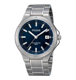 Pulsar Pulsar PS9123X1 Horloge Heren Titanium Blauw