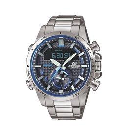 Edifice Edifice ECB-800D-1AEF Horloge Heren Tough Solar, Staal, world timer