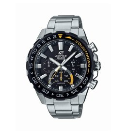 Edifice Edifice EFS-S550DB-1AVUEF Horloge heren Chrono Staal Zwart/Geel Solar