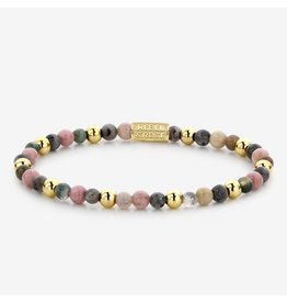 Rebel&Rose Rebel&Rose RR-40042-G-S Armband Winter Glow-Yellow Gold plated  4MM S