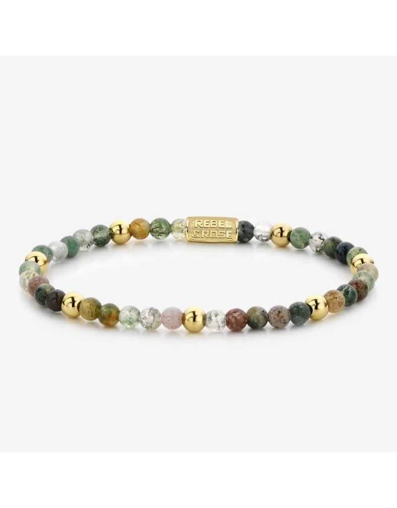 Rebel&Rose Rebel&Rose RR-40046-G-S Armband Indian Summer Yellow Gold plated 4MM S