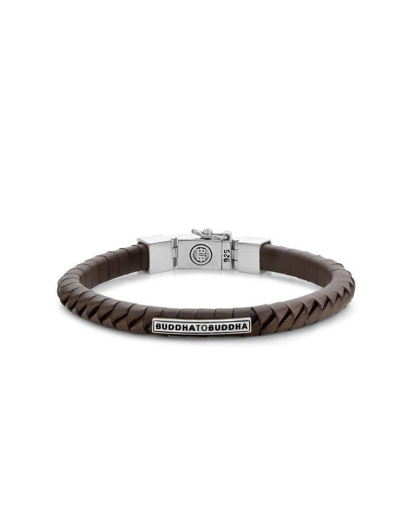 Buddha to Buddha 162BR Komang Small Leather Bracelet Brown - Men 21CM