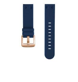 TW Steel TW Steel TWB588 Horloge band blauw 24 mm Rosé Gesp