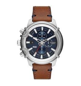 Diesel DZ4518 Horloge Heren Chrono Staal Bruin leer