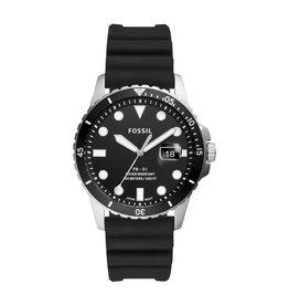 Fossil Fossil FS5660 Horloge Diver Zwart Rubber band