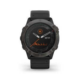 Garmin Exclusive Garmin 010-02157-21 Smartwatch Fenix 6X pro Solar Carbon Grey DLC