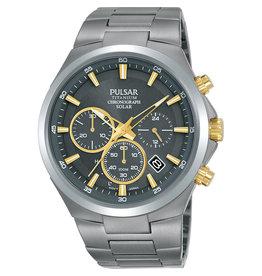 Pulsar Pulsar PZ5099X1 Horloge Heren Chrono Titanium Solar