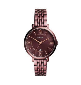 Fossil Fossil ES4100 Horloge Staal Wine Red