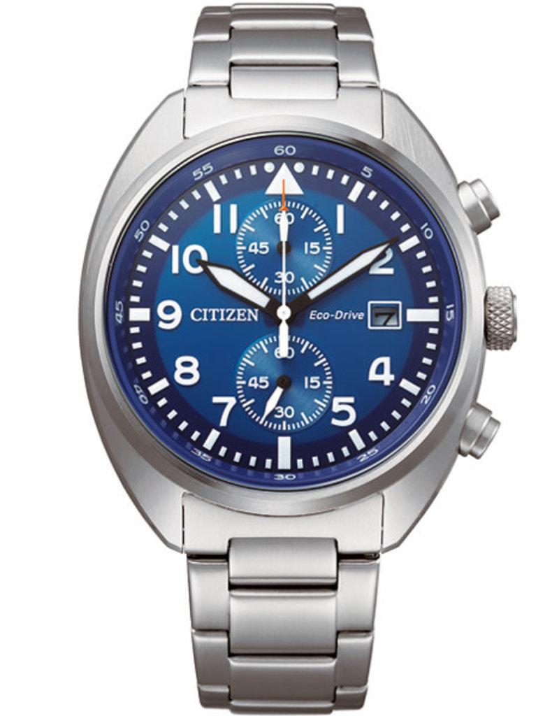 Citizen CA7040-85L Horloge Heren Eco Drive Chrono Staal