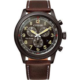 Citizen Citizen AT2465-18E Horloge Heren Chrono Ecodrive Leer bruin