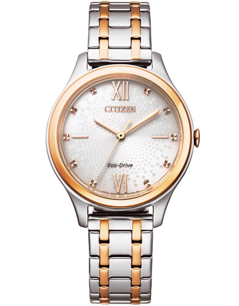 Citizen EM0506-77A Horloge Dames Ecodrive Staal/Rosé