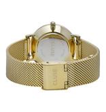 Cluse Cluse CW0101203017 Horloge Minuit Mesh Gold Black