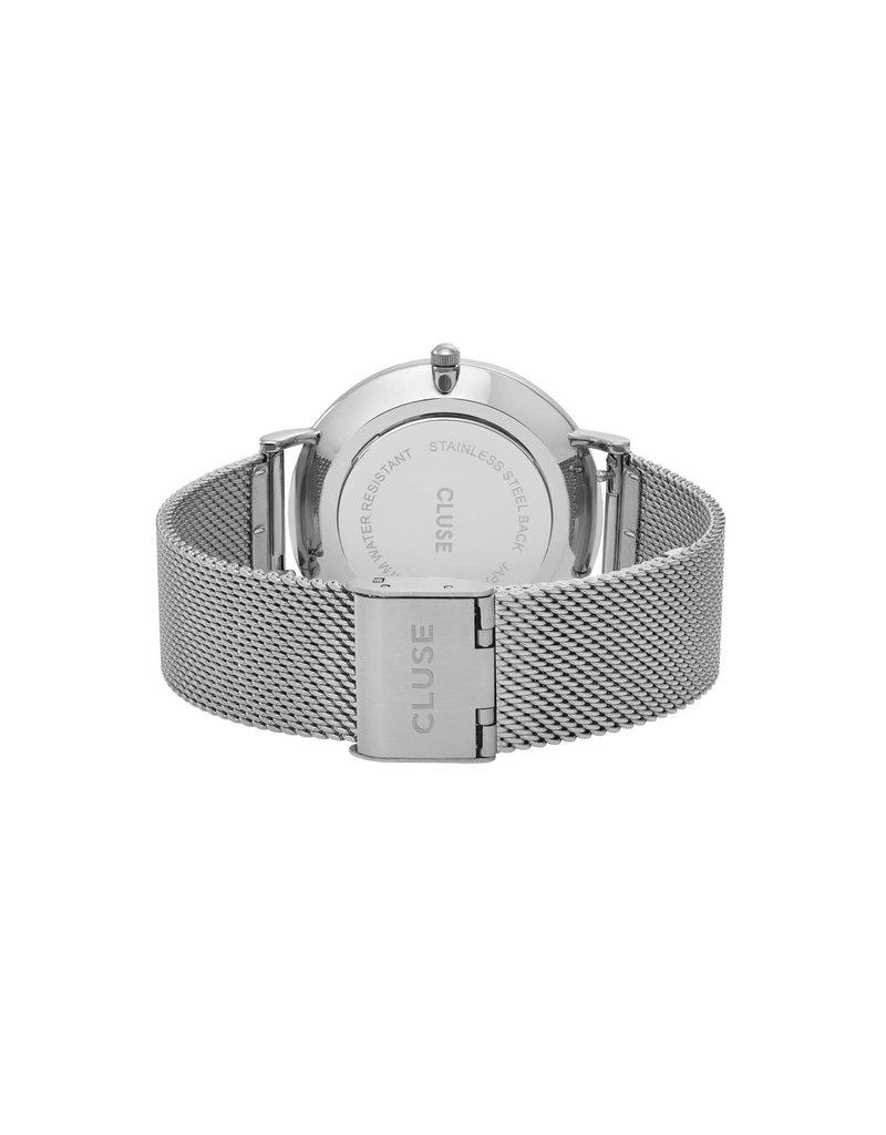 Cluse Cluse CW0101201002 Horloge La Boheme Mesh White Silver