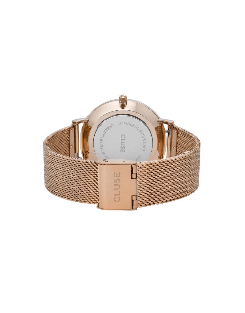 Cluse Cluse CW0101201001 Horloge La Boheme Mesh Rosé Gold