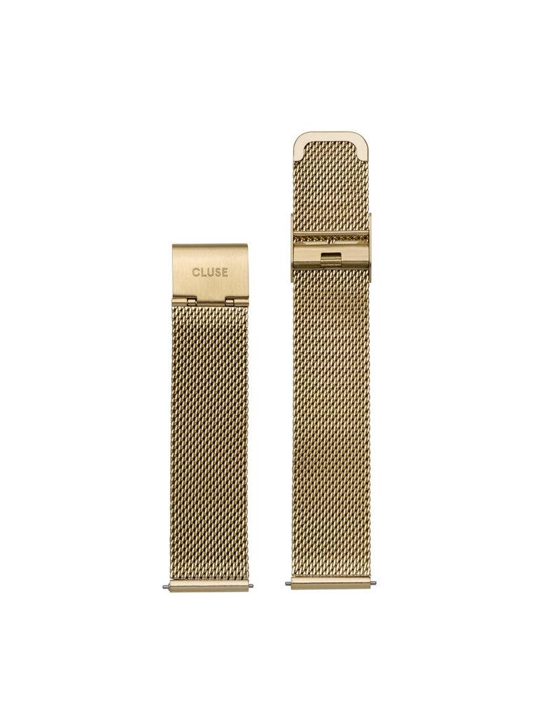 Cluse Cluse CS1401101009 Horlogeband Mesh Gold 18MM