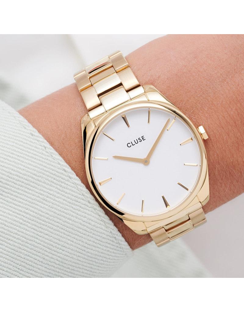 Cluse Cluse CW0101212005 Horloge Dames Féroce 3Link Gold