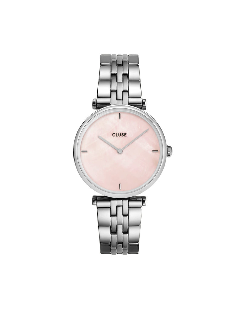 Cluse Cluse CW0101208013 Horloge Dames Triomphe 5-Link Silver Salmon Pink